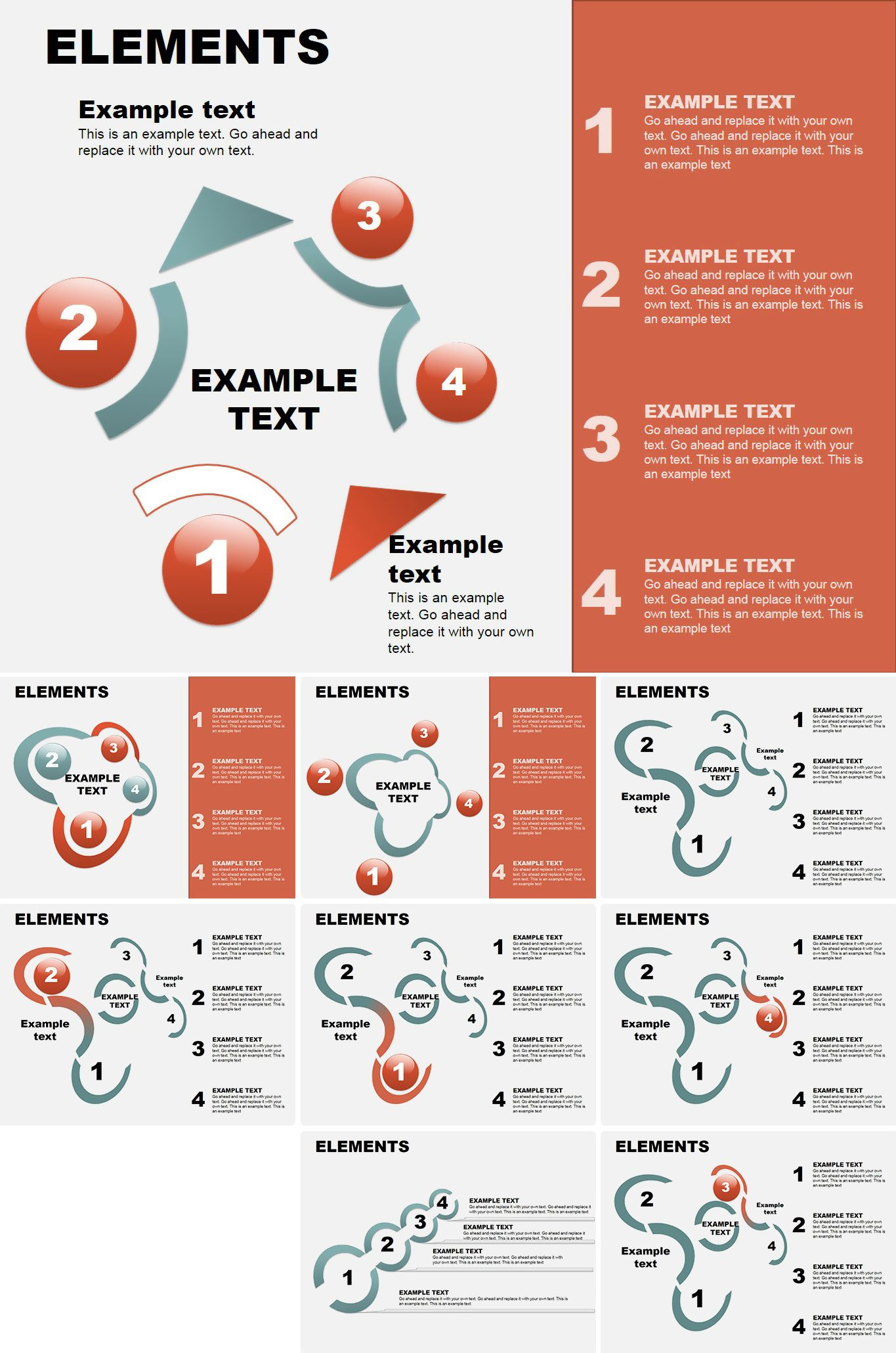 Abstract Elements PowerPoint Charts   Powerpoint charts ...