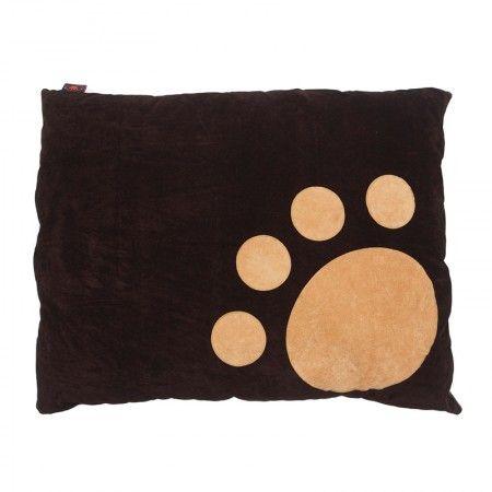 Tan Corner Paw on Choc Dog Doza by Creature Clothes | Pet Runway