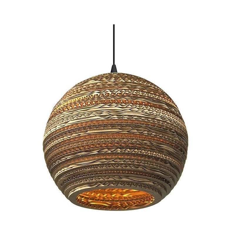 Moon Brown Pendant Lights Paper Ball Pendant