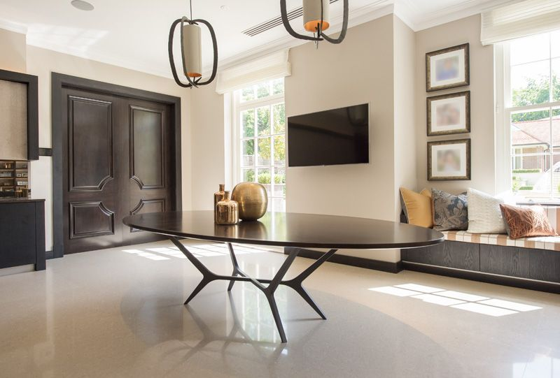hondrum dining table interior design by james page contemporary rh pinterest com