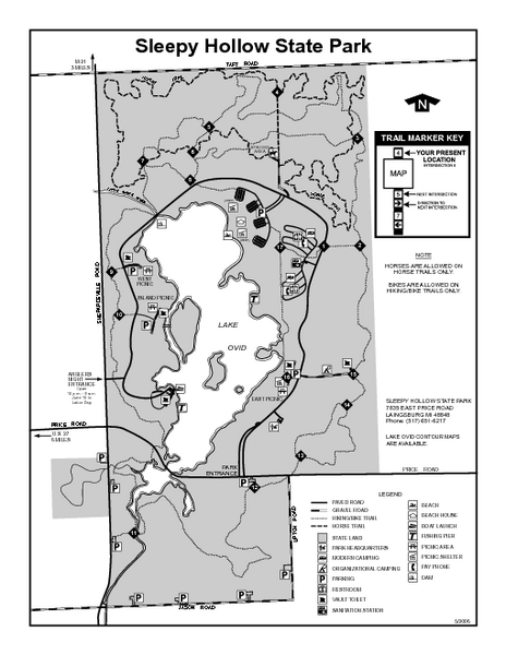 Sleepy Hollow State Park Michigan Site Map Maps Local