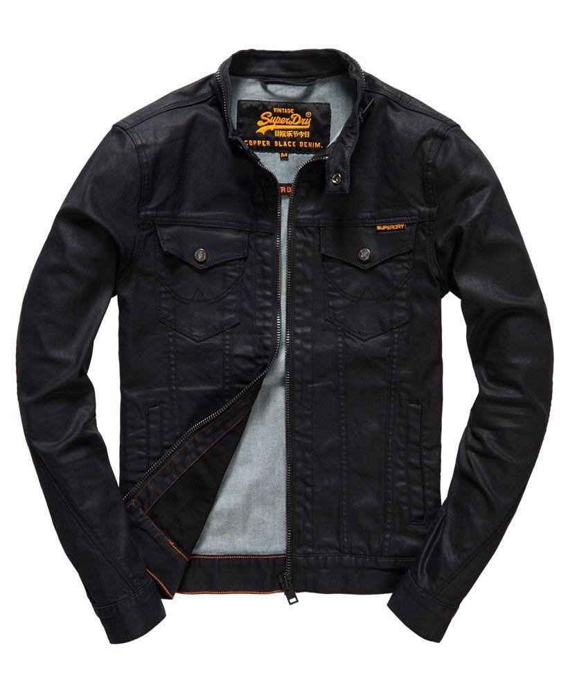 86e4ea542b7 Superdry Biker Black Jacket - Men s Jackets