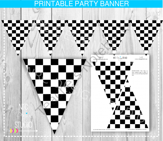 printable racing banner - checkered flag banner from nrc design, Powerpoint templates
