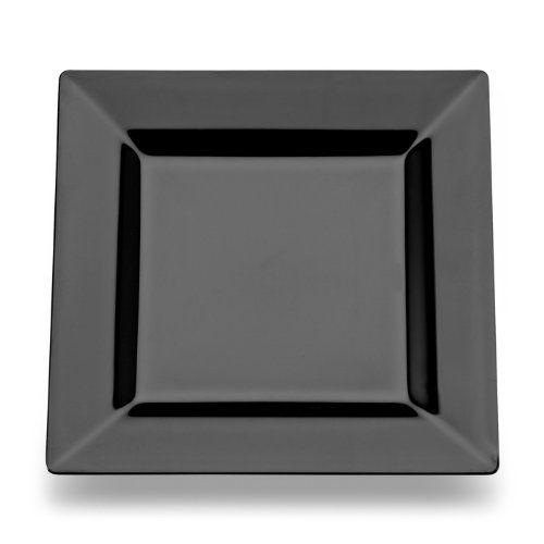 Square Plastic Dessert / Salad Plates Black 6.5 Inch 120ct Elegant Wedding Plate  sc 1 st  Pinterest & Square Plastic Dessert / Salad Plates Black 6.5 Inch 120ct Elegant ...