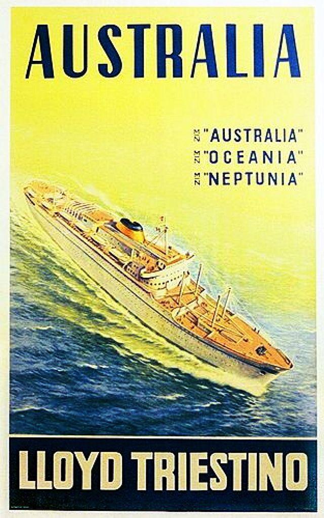 Lloyd Triestinou0027s - MS Australia, Oceania \ Neptunia - 1951- 1963