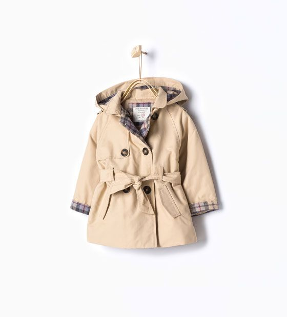Trench Coat With Hood Tops Baby Girl Collection Aw15 Meisjes Kleding