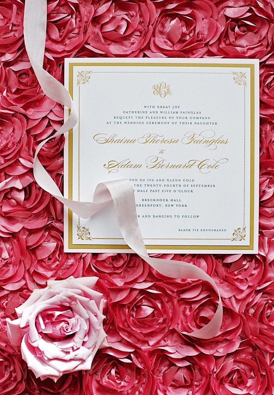 Wedding Invitations | Classic wedding invitations, Stationery and ...