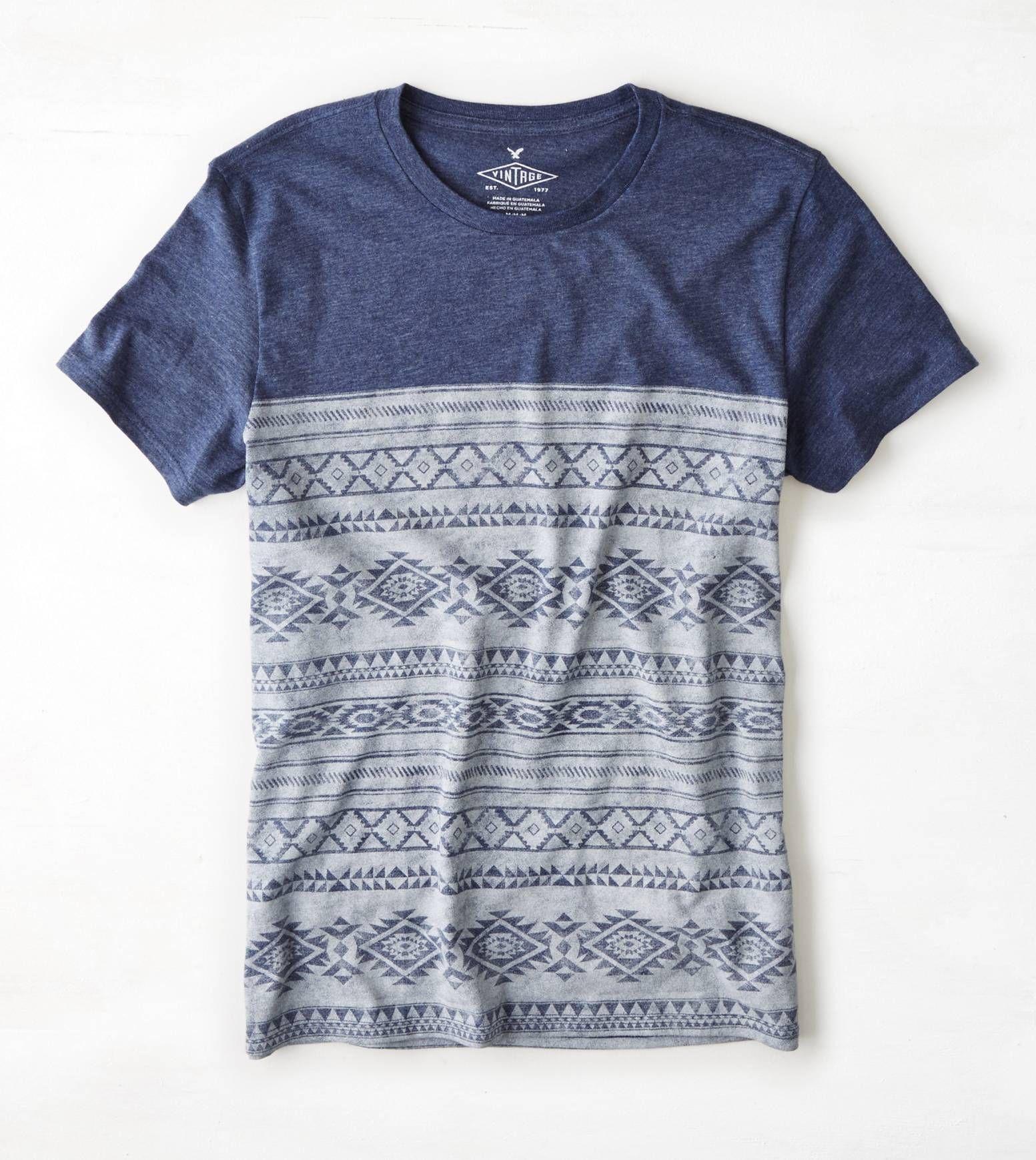 Indigo AEO Vintage Graphic T-Shirt
