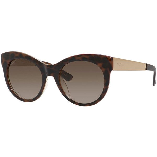 6a392bf4caa34 Gucci Floral-Interior Cat-Eye Sunglasses (18