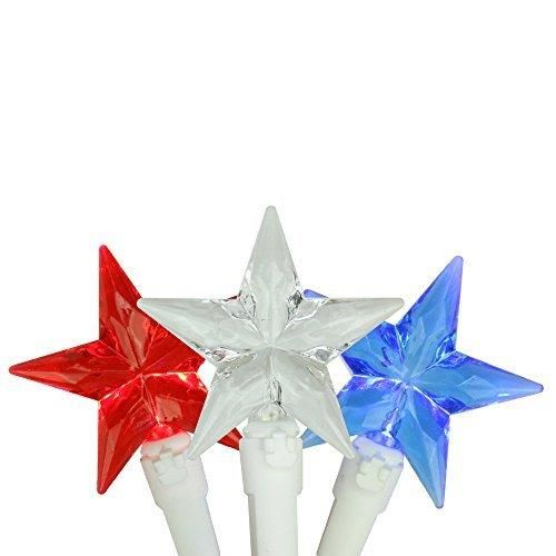 Set of 30 LED Red, White  Blue 4th of July Patriotic Christmas Star