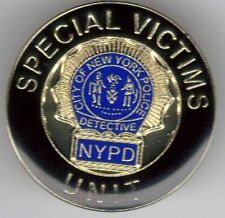 law and order special victims unit/NYC police detective lapel pin