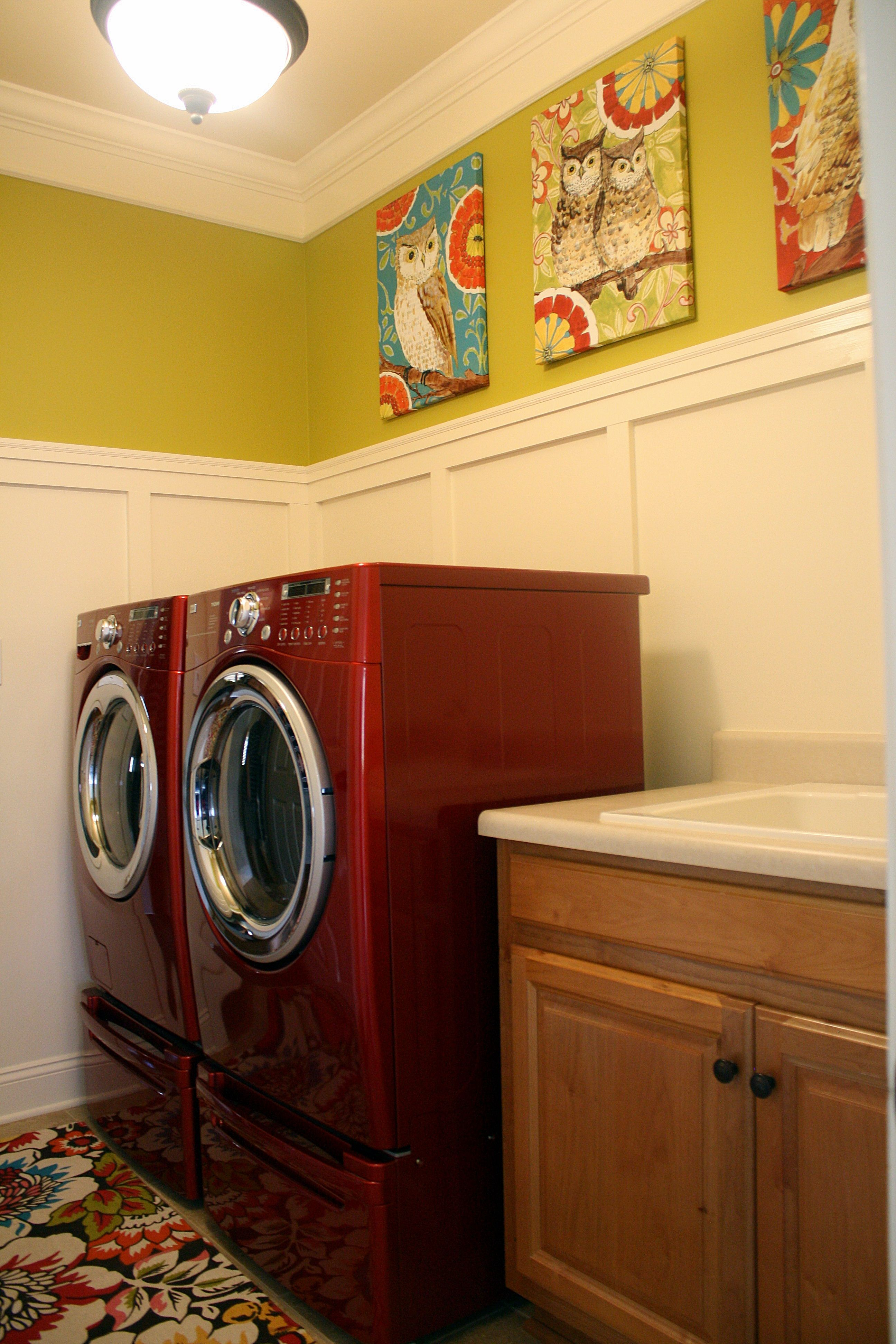 laundry room - paint color is Behr Ultra lemongrass | Our Bama Home ...