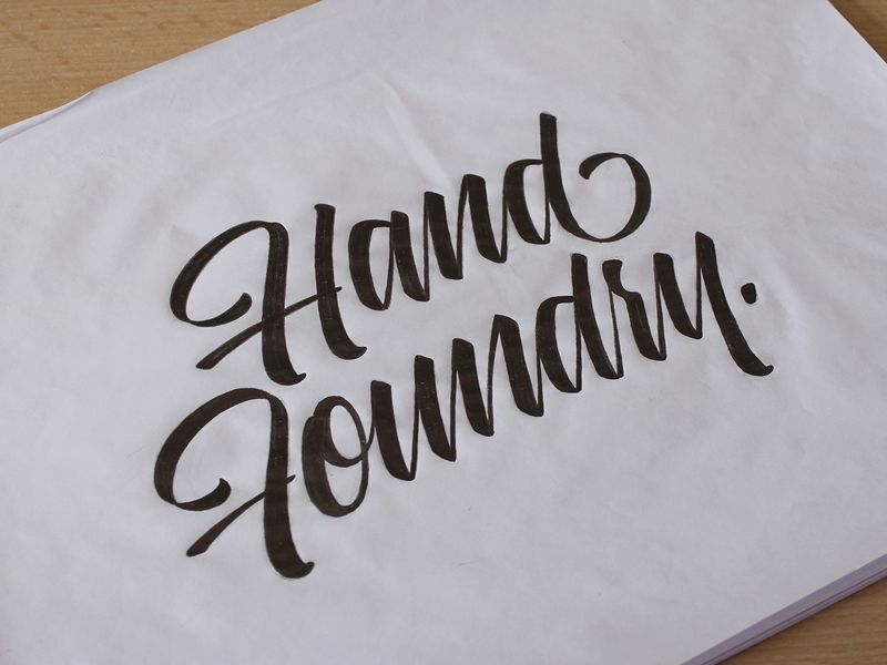 Hand Foundry Logo Lettering