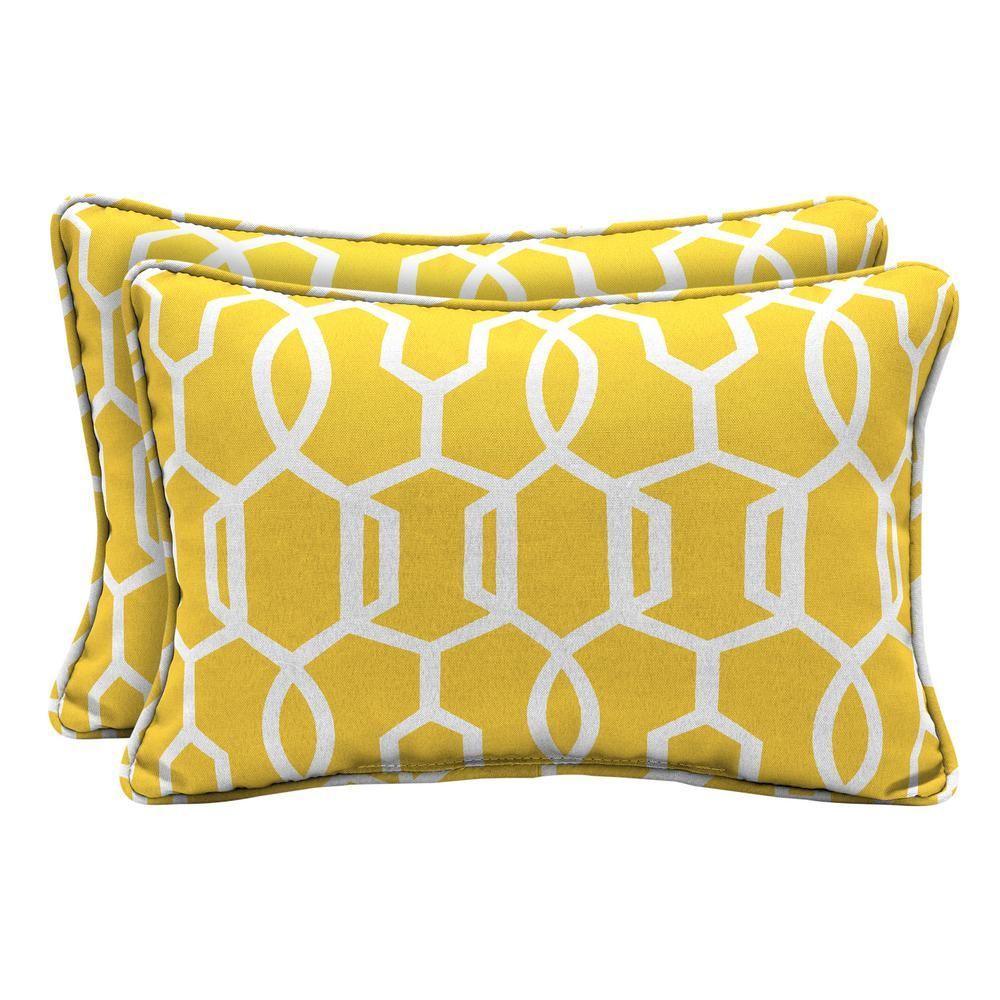 hampton bay driweave vase lattice lumbar outdoor throw pillow 2 rh pinterest com