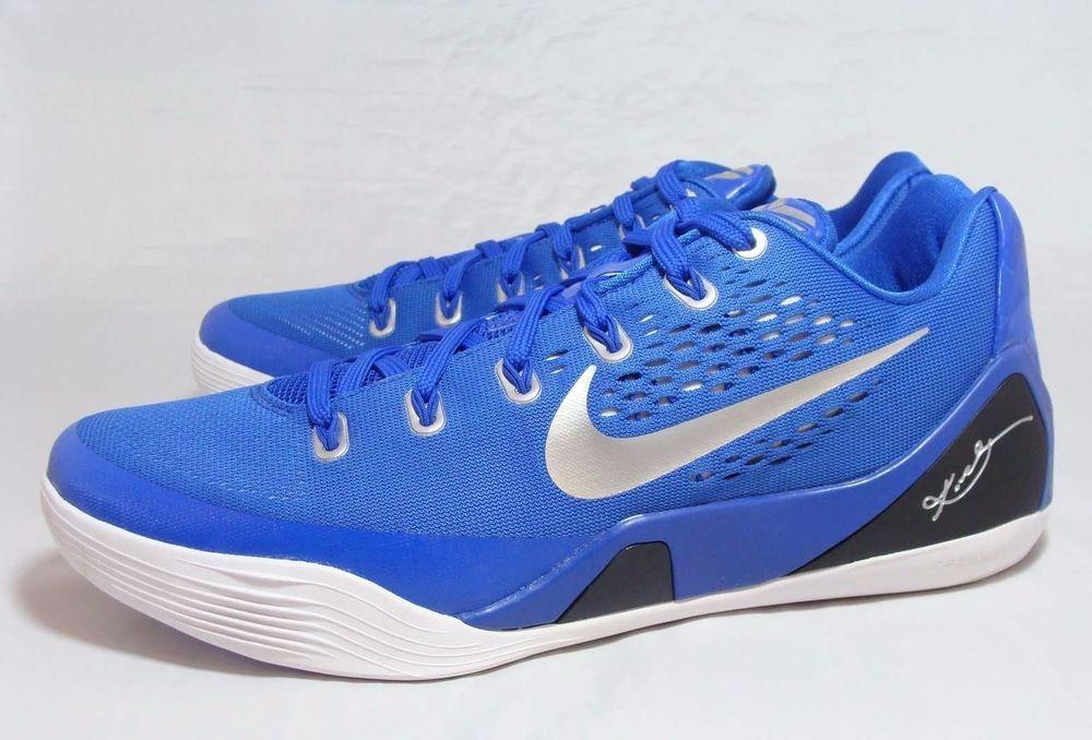 finest selection a3ad5 d3d46 Nike KOBE IX EM TB Mens Basketball Shoes 15.5 Game Royal Silver 685776 402   Nike  BasketballShoes