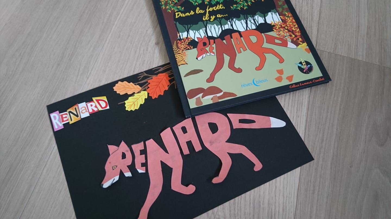Imagimots Renard En Decoupage Collage Renard Calligramme Decoupage