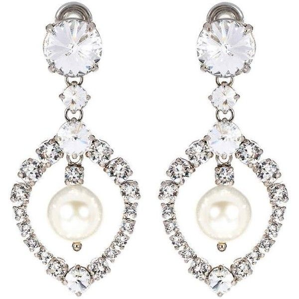 Miu Crystal Embellished Earrings 56885 Rsd Liked On Polyvore Featuring Jewelry Silver Jewellery
