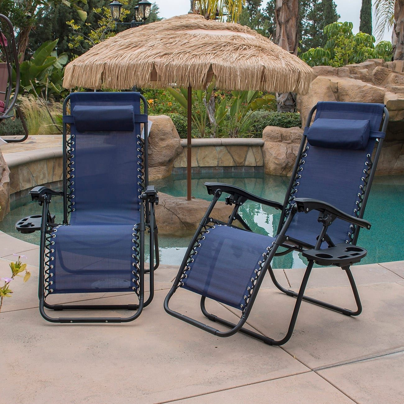 belleze zero gravity chair recliner patio pool chair cup holder rh pinterest co uk