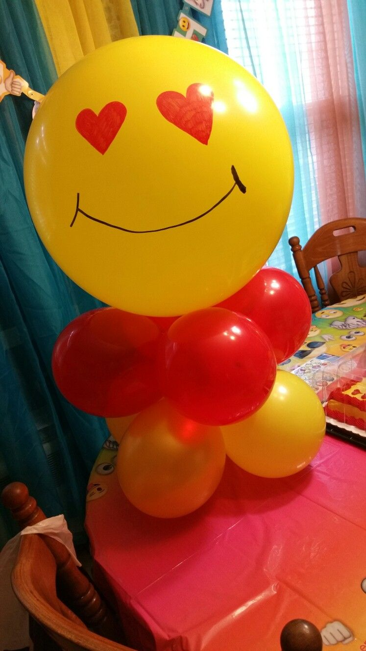 DIy Emoji Balloons Party