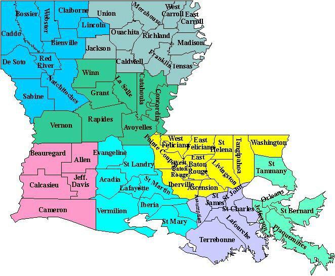 Louisiana Parish Map ღ Cartography Pinterest Louisiana
