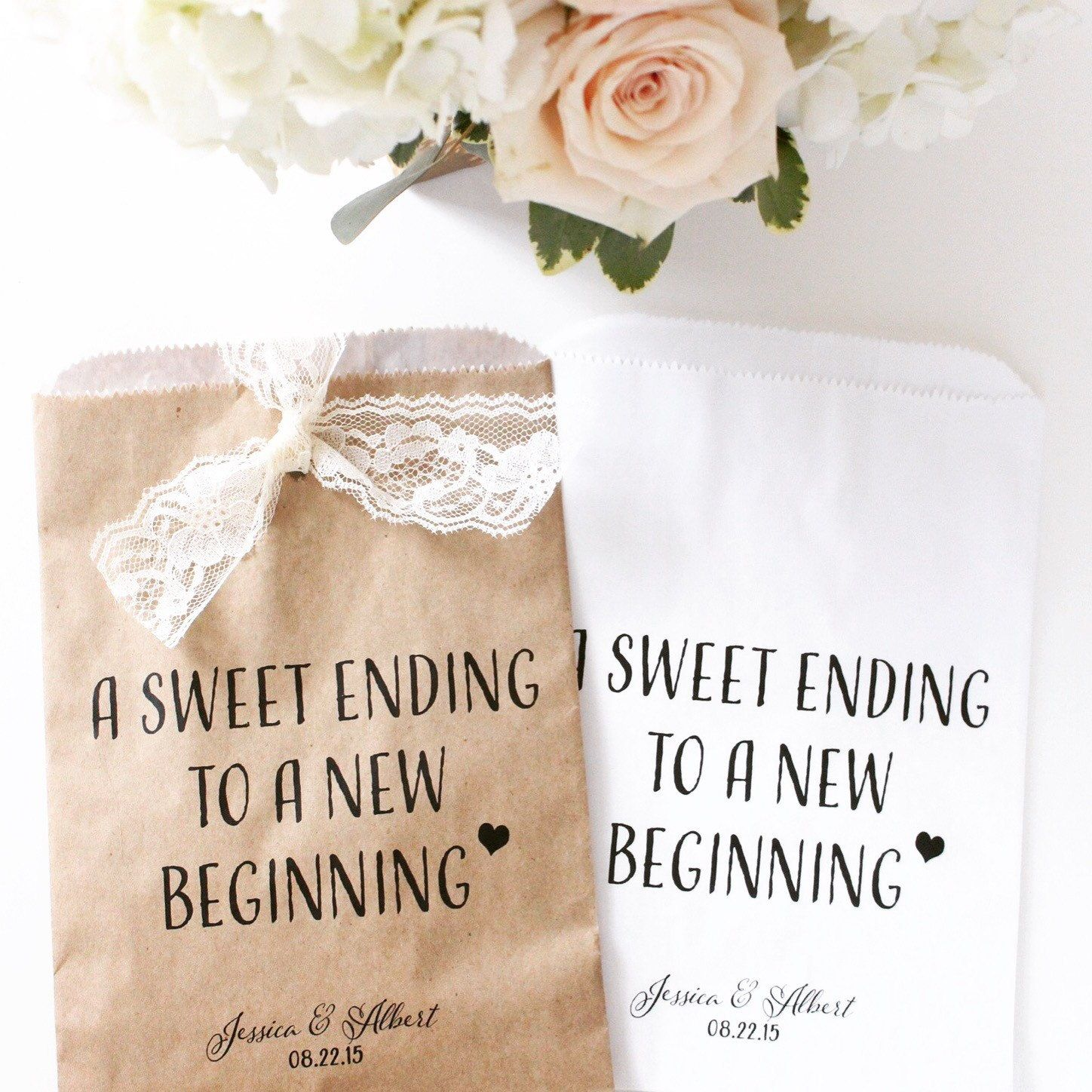 A sweet ending to a new beginning. Wax Lined /Grease Resistant Bag ...