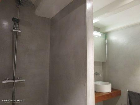 VERBAU-betonstuc, badkamer in #01/128 steenkool | Badkamer in ...