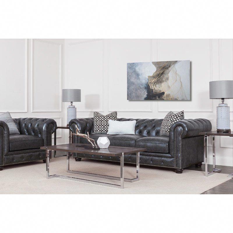 whitby 95 chesterfield leather sofa homefurnitureonline home rh pinterest com