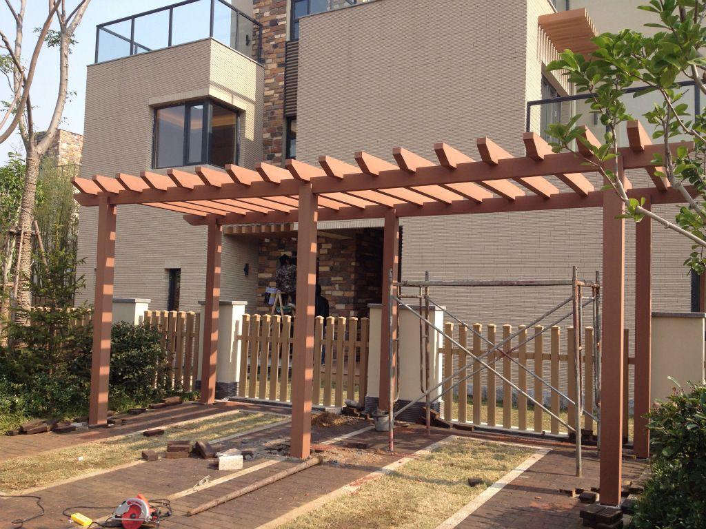 low cost wood plastic pergola supplier - Low Cost Wood Plastic Pergola Supplier WPC Landscape Pinterest