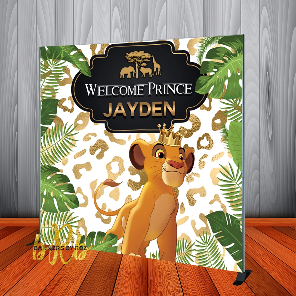 LION KING BABY SHOWER PERSONALISED BIRTHDAY PARTY BANNER BACKDROP