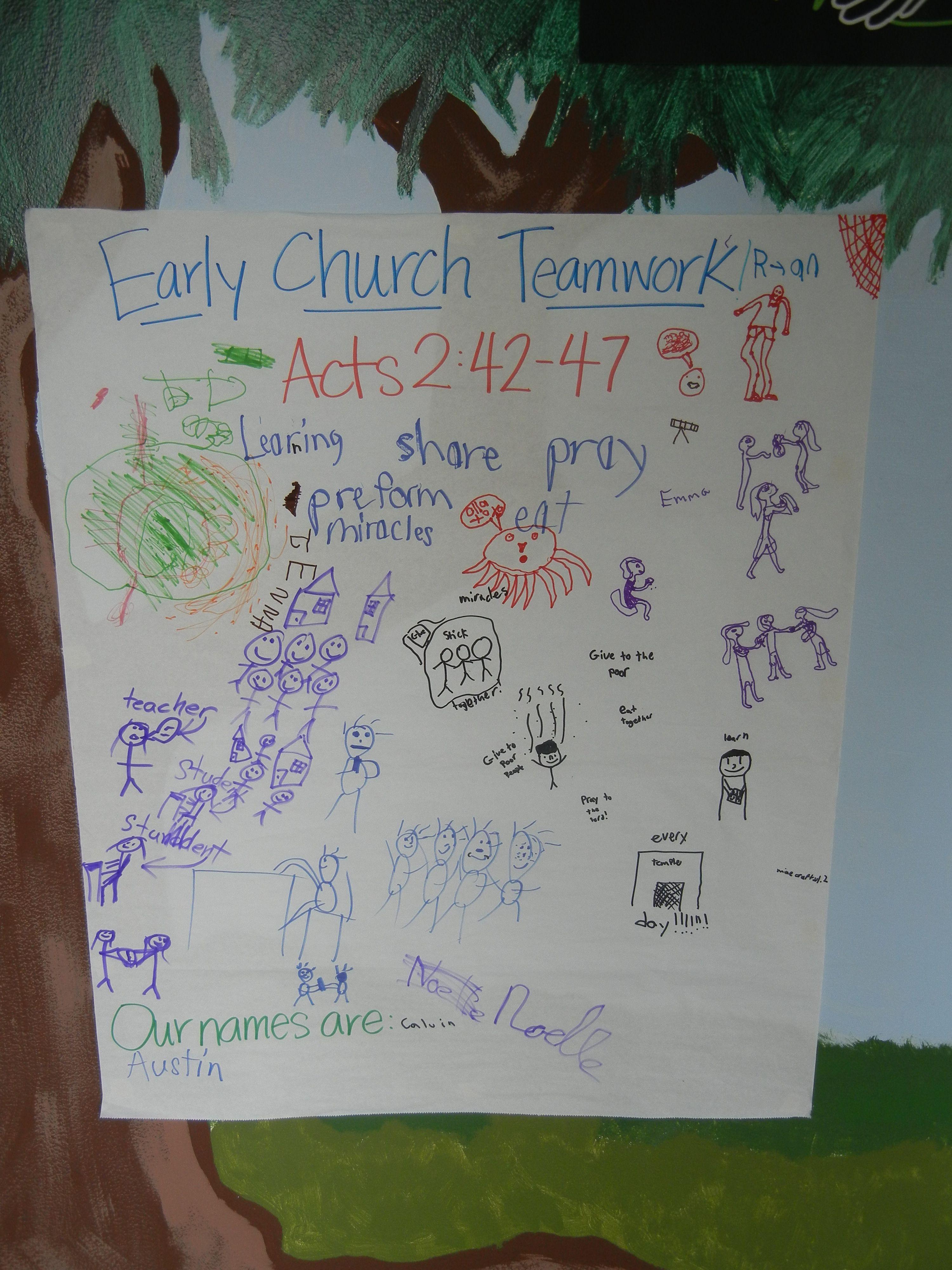 Early Church Teamwork Poster 2