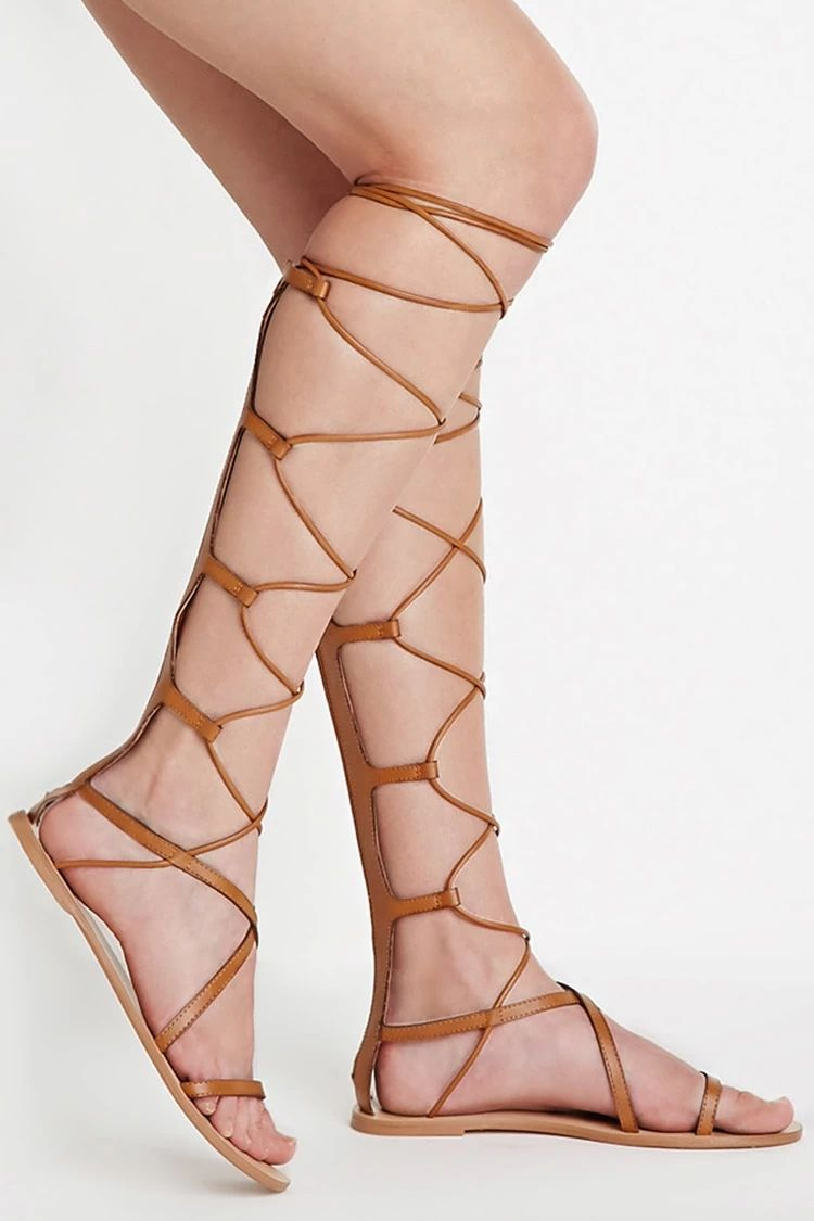 5f9a580644c6 Faux Leather Gladiator Sandals  stepitup