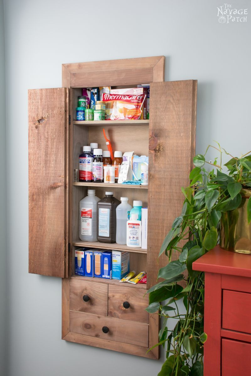 space hacker diy in wall first aid cabinet painted furniture rh pinterest com
