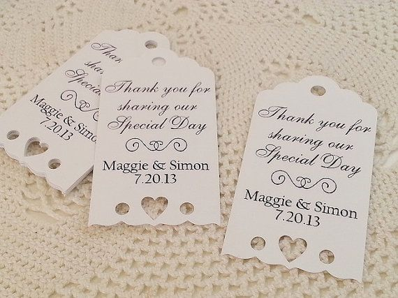 eyelet heart wedding favor thank you tags by pickledcherrypaper 1500