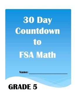 30 Day Countdown to Math FSA- Grade 5   Math   Day countdown, Math