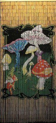 Mushrooms Shroom Door Curtain Gateways 100 Bamboo Beaded Door