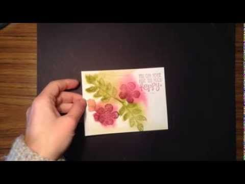 Watercolor Stamping Technique