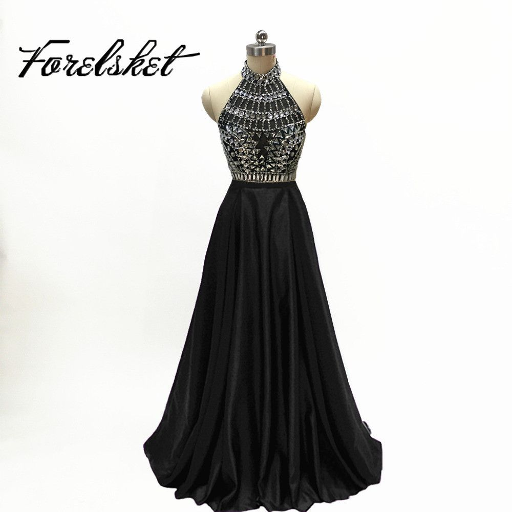 Click to buy ucuc black sexy mermaid prom dresses sheer neck long