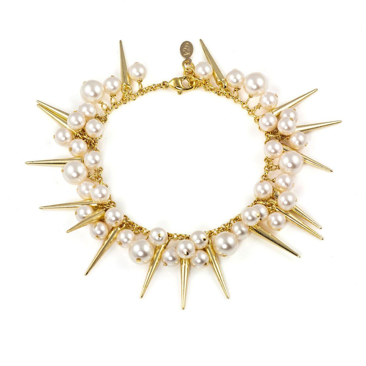 Pearl Spike Bracelet