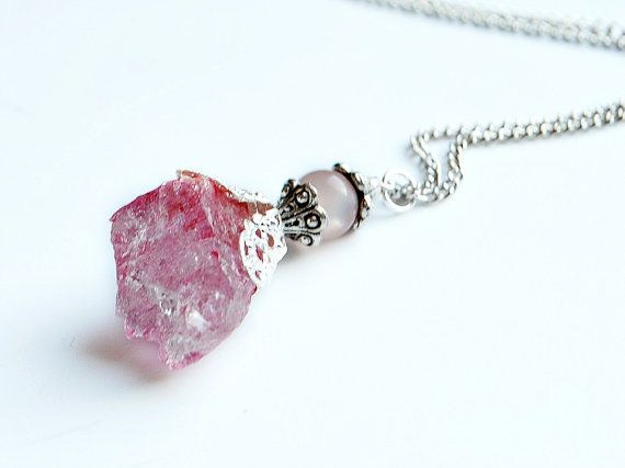 LOVE SPELL Quartz Crystal Necklace Earth Day by MissVioletLace