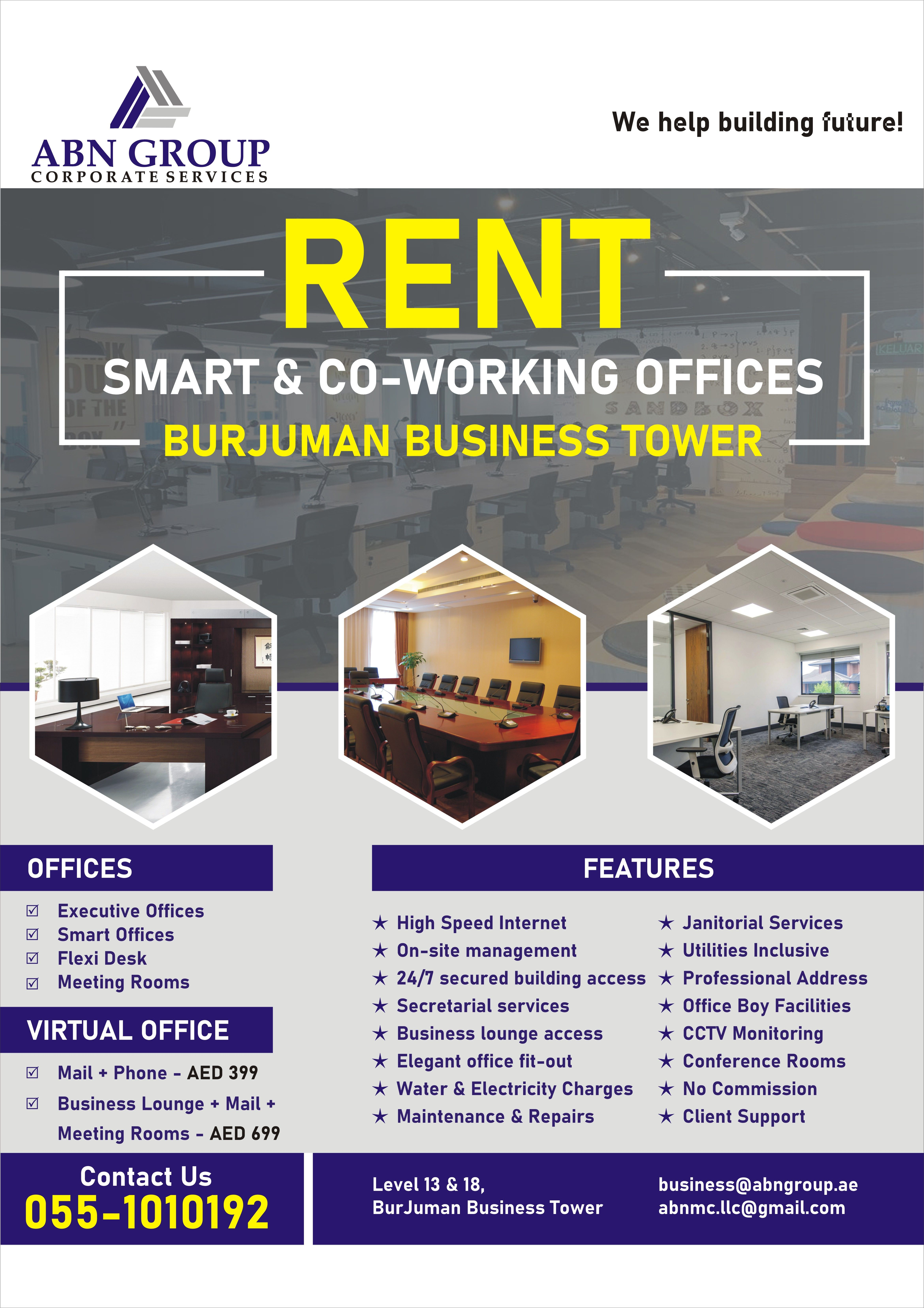 Office Space For Rent In Burjuman Virtual Office Office Space Secretarial Services