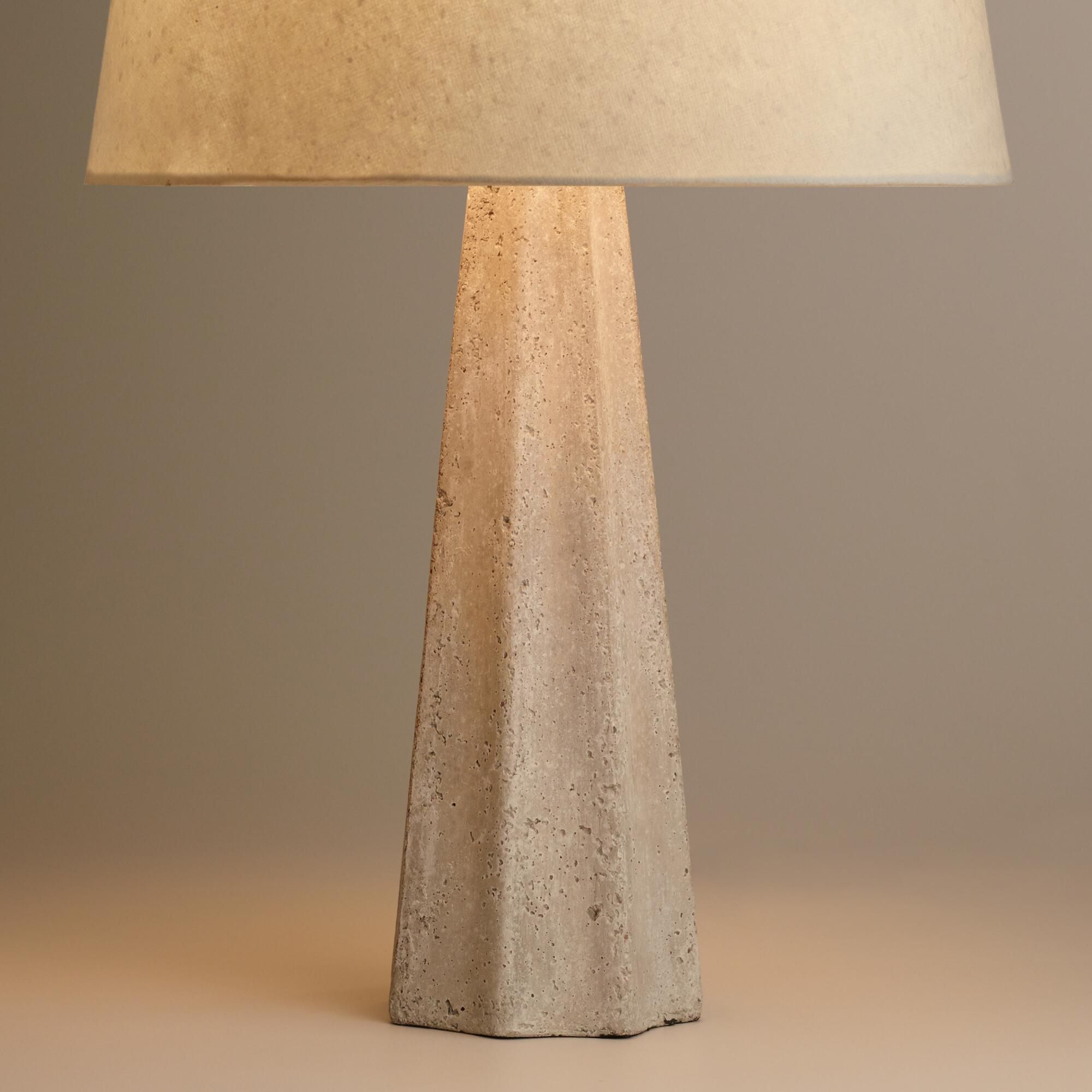 Concrete pillar table lamp base lamp bases concrete and table concrete pillar table lamp base geotapseo Image collections