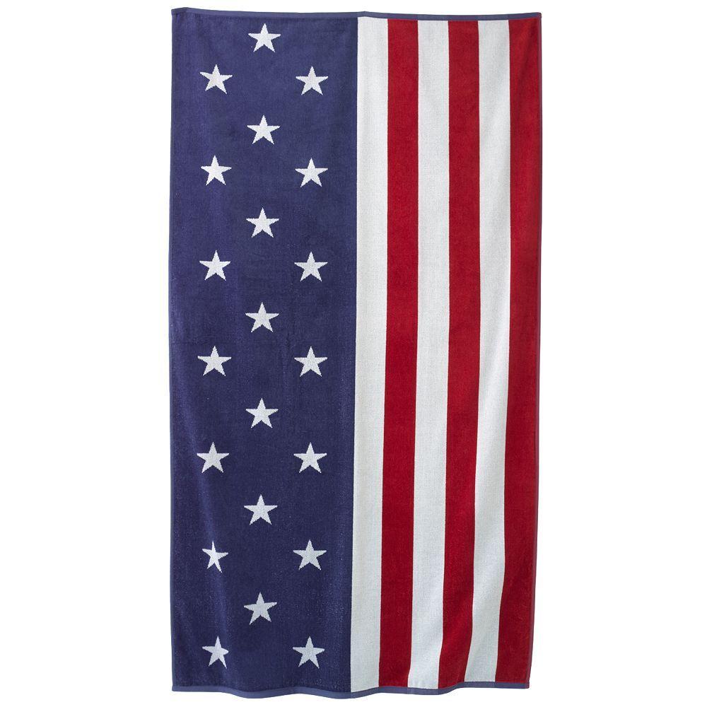 Stars Stripes Beach Towel We Love The Usa Summer Kohls