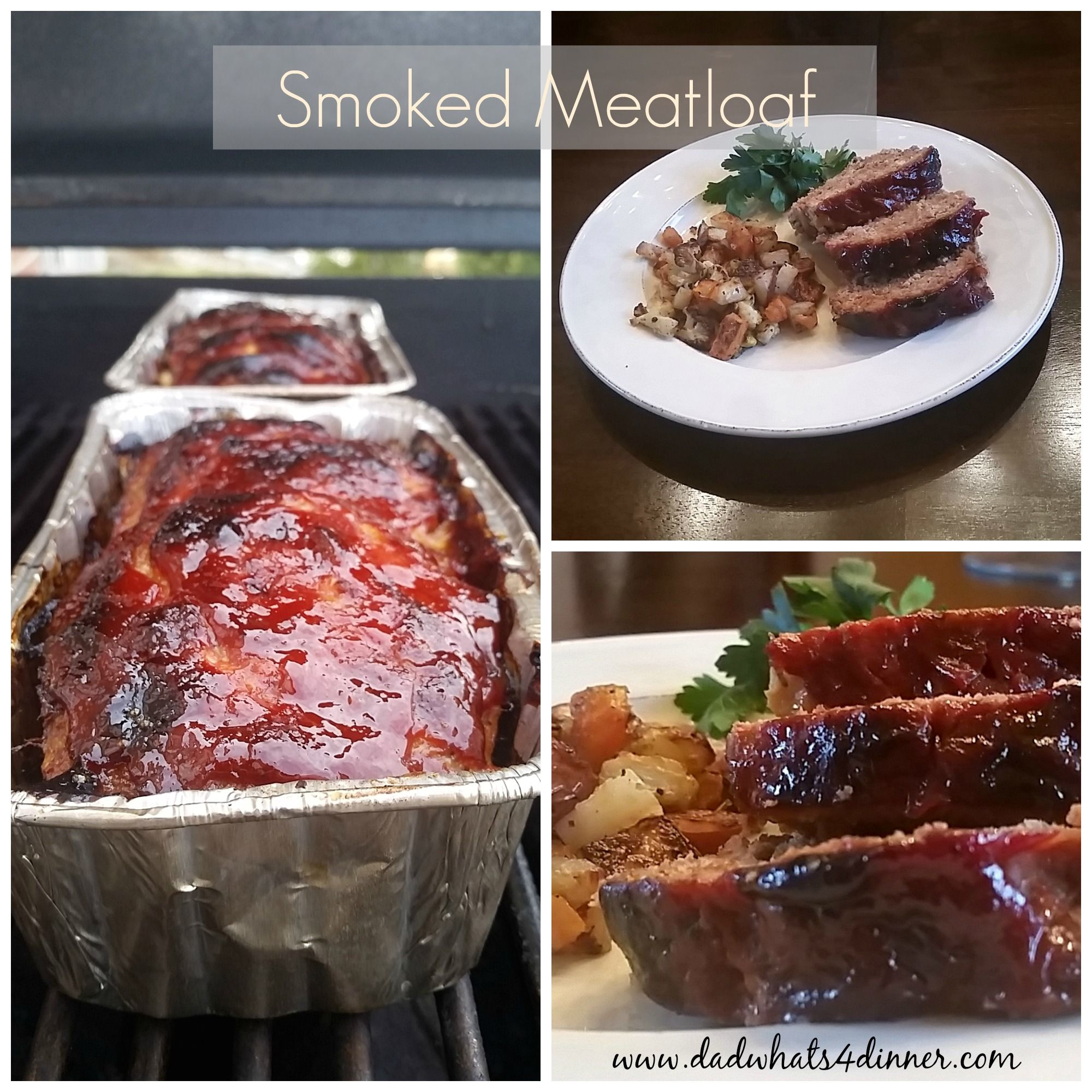 Smoked Meatloaf via @dadwhats4dinner