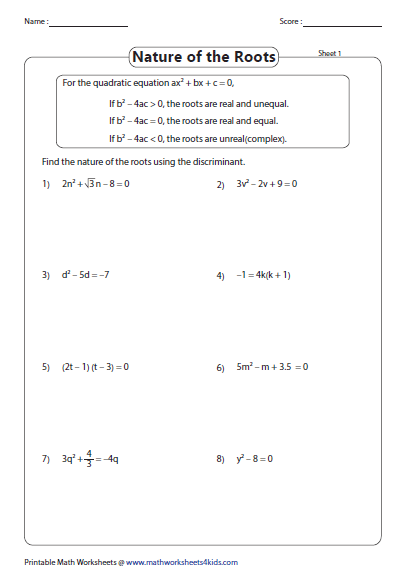 Pin On Quadratic Equation And Function