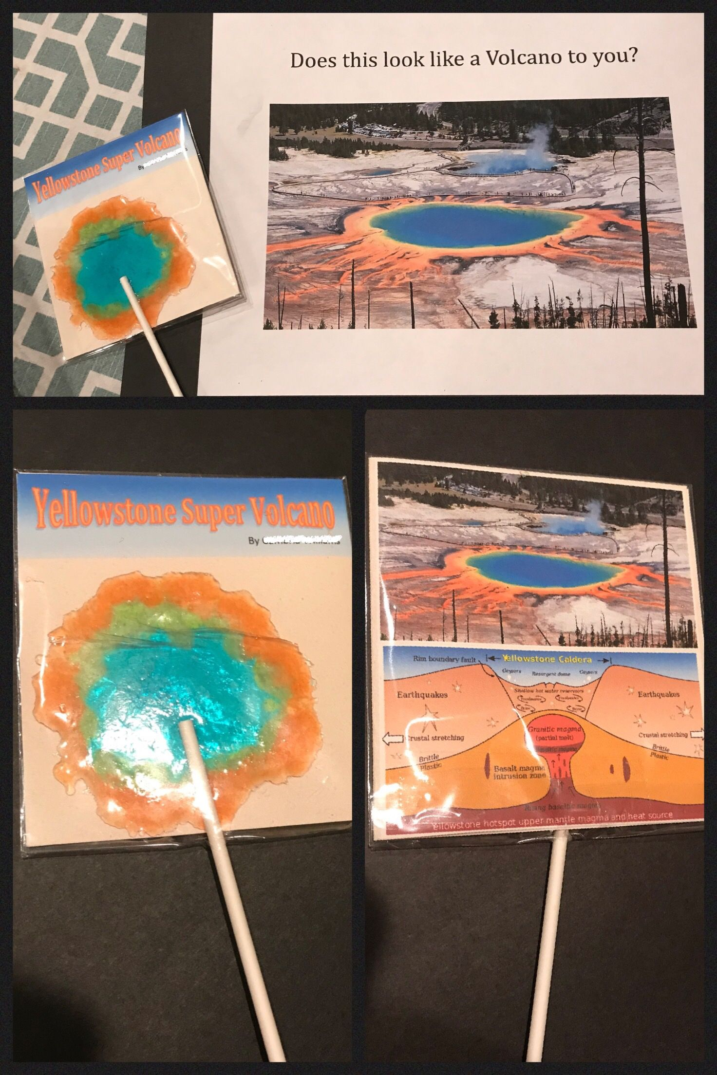 Yellowstone Super Volcano Lollipops Bri S 2nd Grade