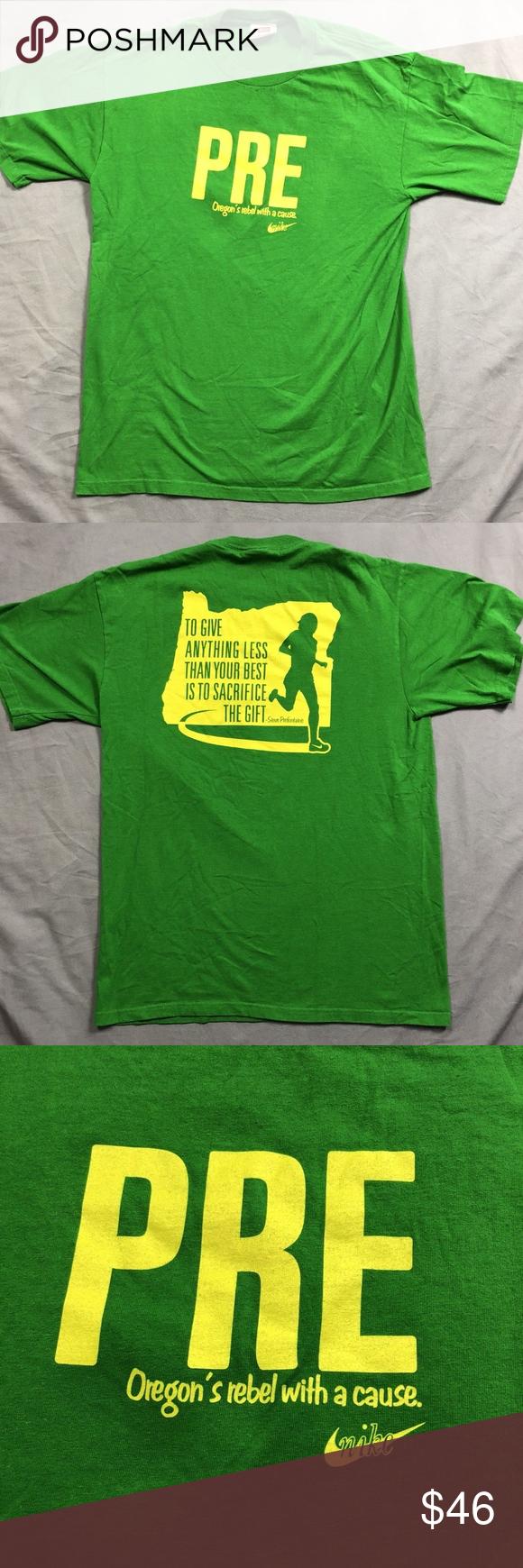 c4341589 Nike Vintage Steve PRE Prefontaine Oregon T Shirt Vintage Nike Steve PRE  Prefontaine Oregon Running T Shirt Size: Medium Pit to Pit: 21