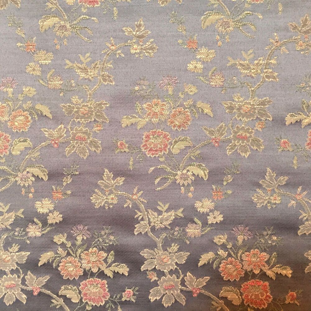 Charcoal Drapery Upholstery Fabric 100/% Cotton Duck Damask-Like Floral