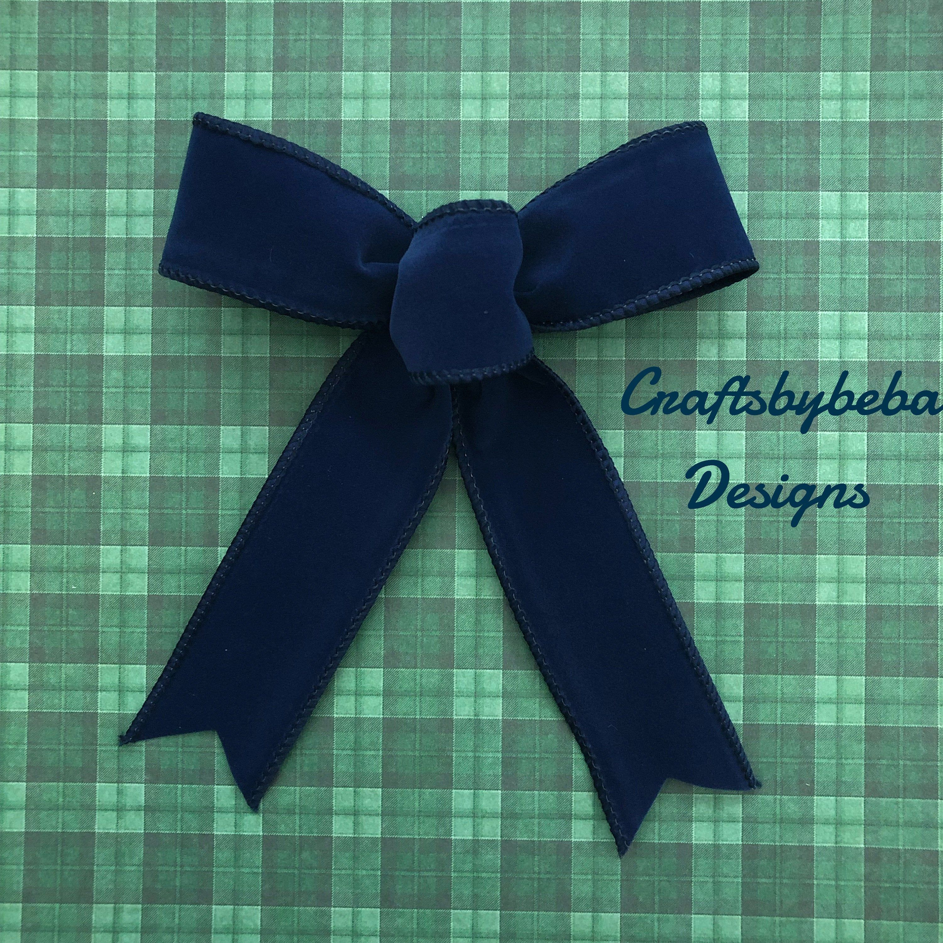 Christmas Blue Decorative Bows / Set of 12 Bows / Xmas Navy Blue Bows / Navy Blue Velvet Decorative Bows / Christmas Tree Bows / Velvet Bows #sunflowerchristmastree