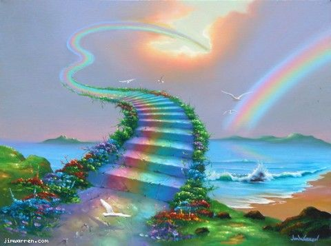 Over The Rainbow By Jim Warren With Images Rainbow Bridge
