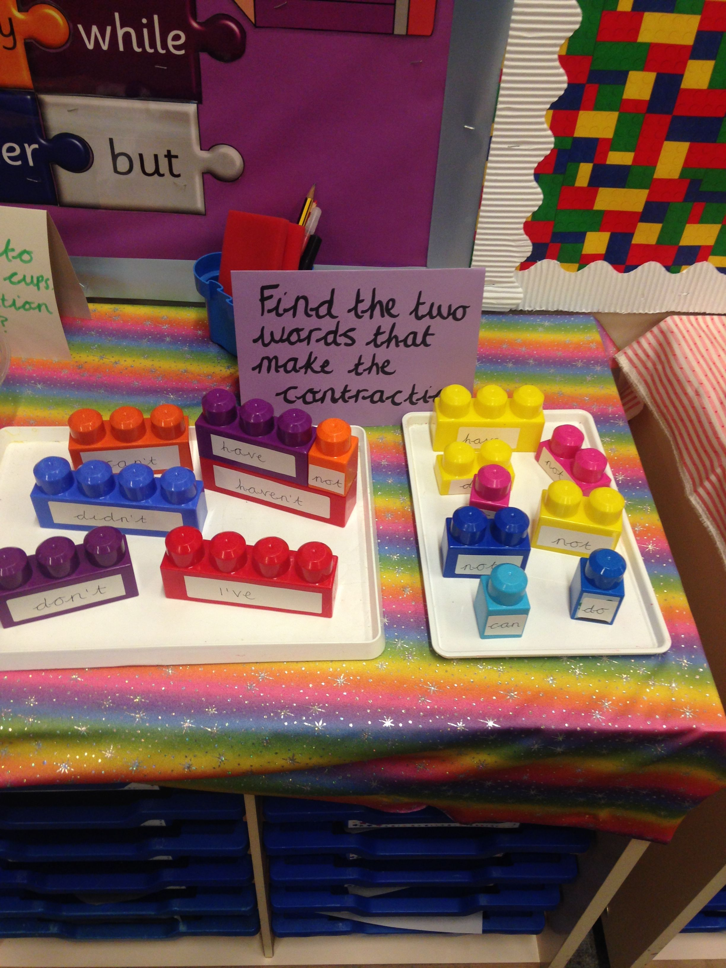 Contractions Interactive Display For English Spelling